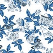 Papel de Parede Vinílico Contemporâneo Romântico Floral  REF- 4116