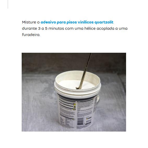 Cola Adesiva Quartzolit para pisos vinílicos 18 KL