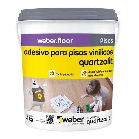 Cola Adesiva Quartzolit para pisos vinílicos 4 KL