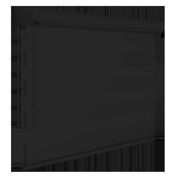 Cortina Double Vision - 1.50 x 1.50 - Tecido e Bandô Preto - Comando Esquerdo