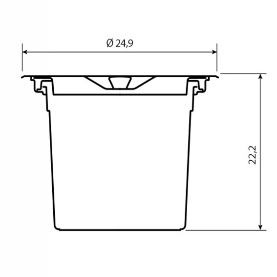 Lixeira de Embutir Tramontina Clean em Aço Inox com Balde Plástico 5 L
