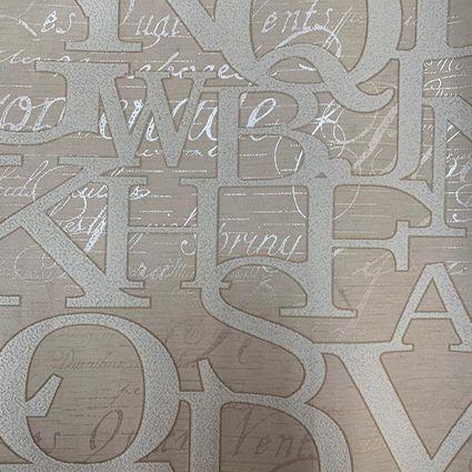 Papel de Parede 111106 - Letras Bege