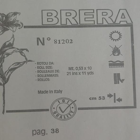 Papel de Parede importado Italiano - Coleção Brera - 81202 - Bronze e Bege