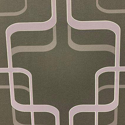 Papel de Parede Arabesco 789959 - Grafite e Lilás - (Últimas Peças)