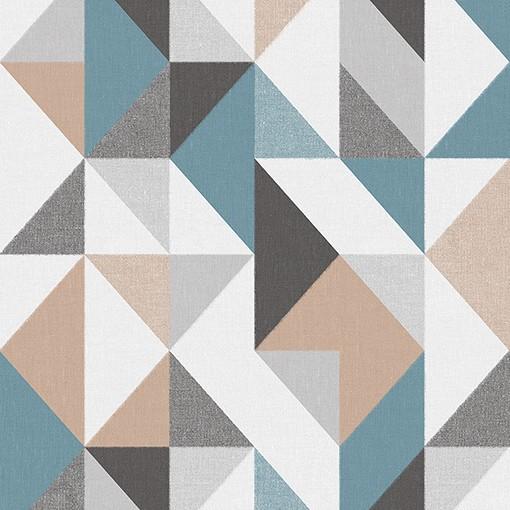 Papel de Parede Vinílico Contemporâneo Geométrico Azul REF- 4118