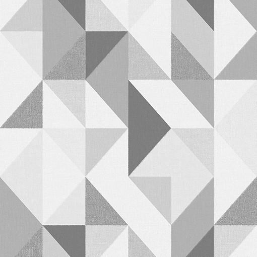 Papel de Parede Vinílico Contemporâneo Geométrico Cinza REF- 4122