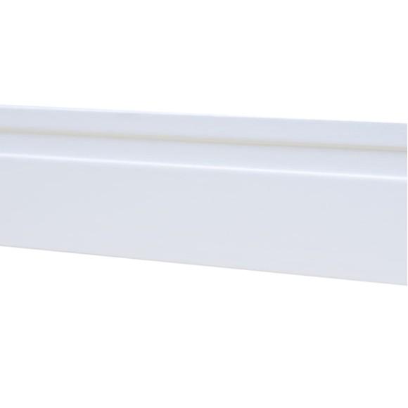 Rodapé MDF Branco 07 cm altura x 1.90 m de comprimento / com 1 friso largo