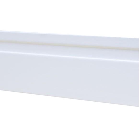Rodapé MDF Branco 10 cm - 1 friso