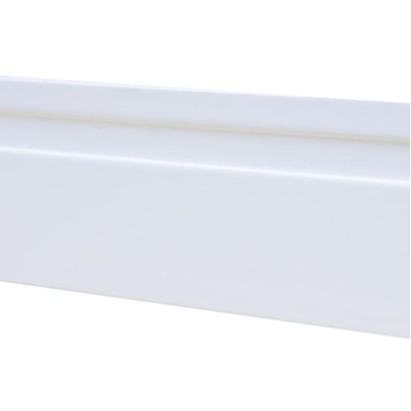 Rodapé MDF Branco 15 cm altura x 1.90 m de comprimento / com 1 friso largo