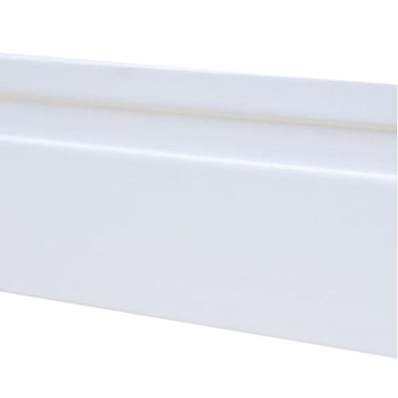 Rodapé MDF Branco 20 cm - 1 friso