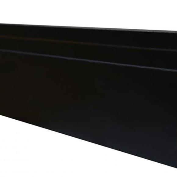 Rodapé MDF Preto 15 cm - 1 friso