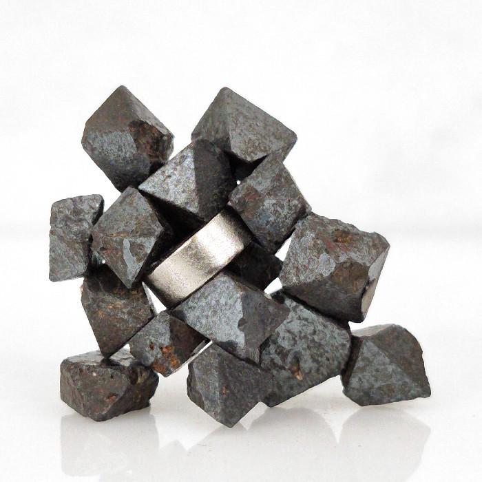 Magnetita com imã - 17 peças