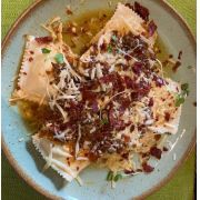 Combo Raviolone de Búfala Salada - Suco - Sobremesa