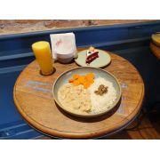 Combo de Frango ao leite de coco da casa - Salada - Suco - Sobremesa