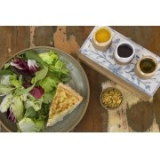 Quiche de Espinafre com Ricota e Salada
