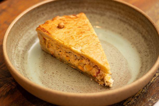 Torta de Frango, milho e cream cheese