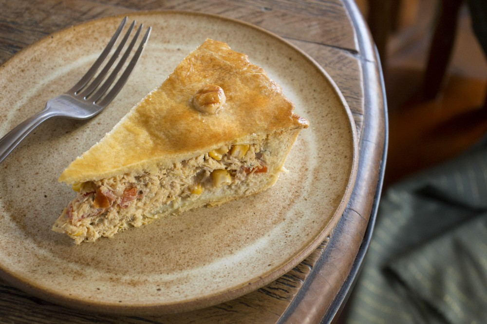 Torta de  Frango, milho e cream chesse