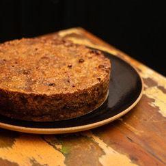 Torta Integral de Banana com Damasco