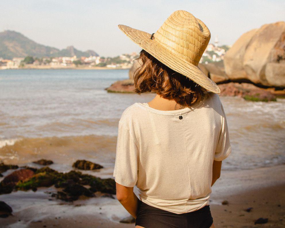 Camisa T-Shirt Modal Feminina BAY San Francisco - Off-White