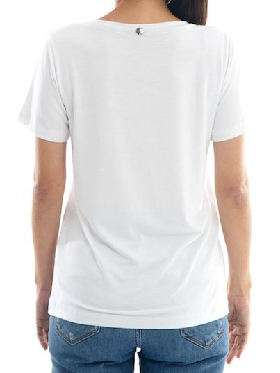Camisa T-Shirt Premium Feminina BAY Santorini Gola V - Branca