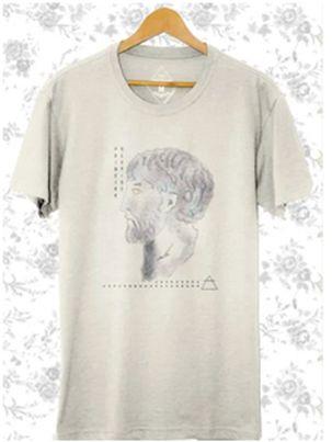 Camiseta Masculina em malha Anaxímenes Off-white