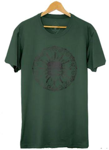 Camiseta Masculina Maumas Burger Algodão Estonado- Verde oliva