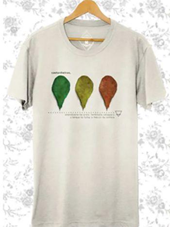 Camiseta Masculina Maumas Castanheira -off-white