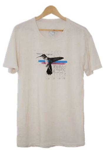 Camiseta Masculina Maumas Colibri com manga - off-white