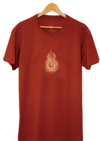 Camiseta Masculina Maumas Fogo - Vermelho Terra