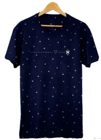 Camiseta Masculina Maumas Gotas - Azul Marinho