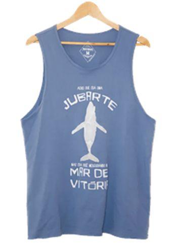 Camiseta Regata Masculina Maumas Jubarte - Azul claro