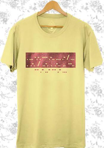 Camiseta Masculina Maumas Morse - Amarela