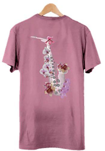Camiseta Masculina Maumas Orquijazz - Goiaba