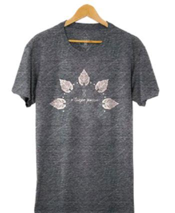 Camiseta Masculina em malha Tempo - Mescla Grafite