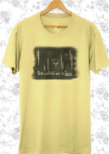 Camiseta Masculina Maumas Terra Algodão Estonado-Amarela