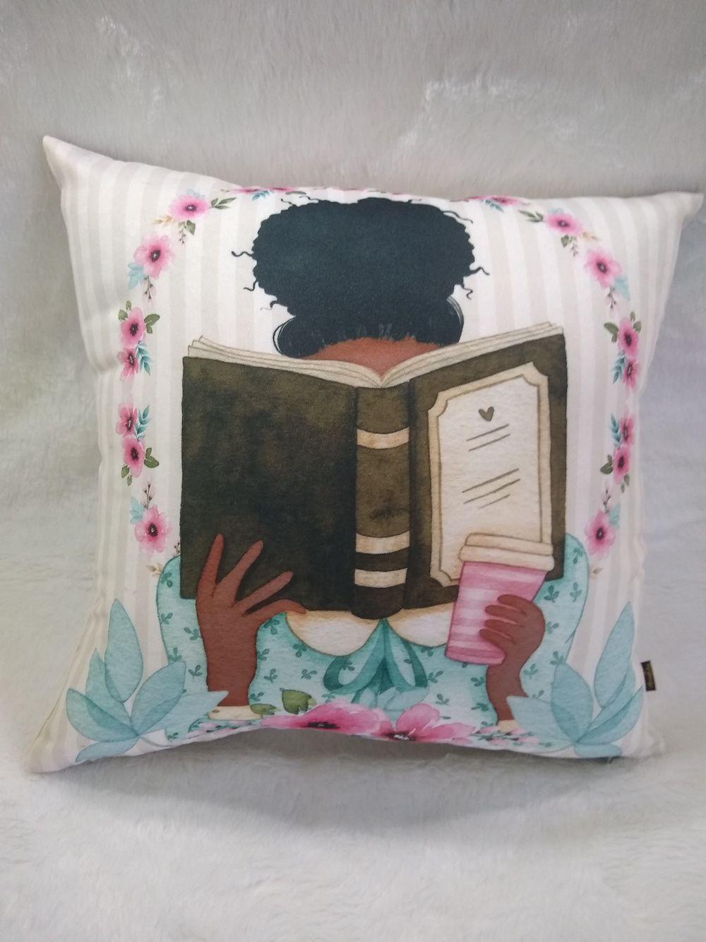 Capa de Almofada Coleção Literatura - Preta