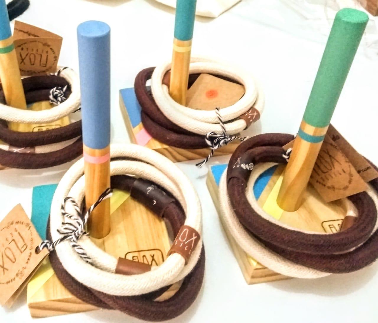 Jogo de Argola - Madeira - Flox Design