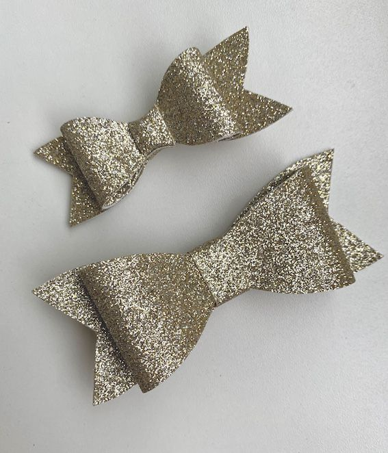 Laço Classico Gliter Fino Dourado -Tatilu