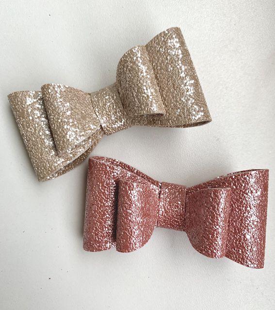 Laço Duplo Shine Perolado, Rosê - Tatilu