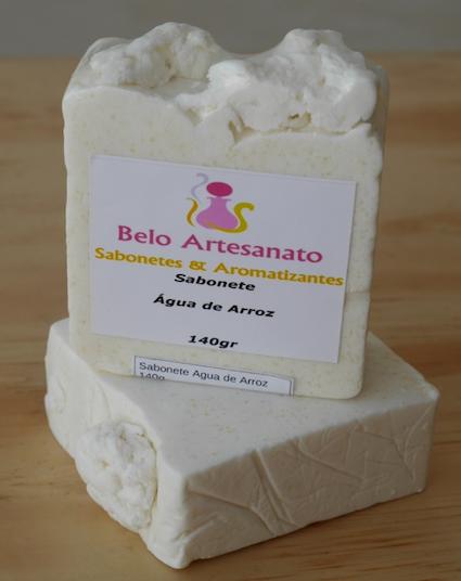 Sabonete de Água de Arroz 150gr - Belo Artesanato