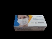3 Caixas - Mascara TNT Branca Tripla Clip Nasal caixa c/50 - Prevemax