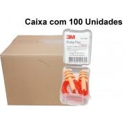 Caixa com 100 Un Plug Auricular Pomp Plus Silicone 3M- 18Db Ca -5745