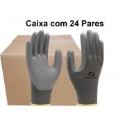 24 Pares de Luva de Malha Com Látex Multitato SS1006 - Super Safety - Ca 32038