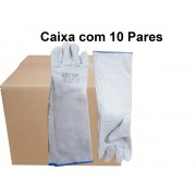 10 Pares de Luva de Raspa Total Punho 30 - Costura Kewlar Braskap -T9 - CA 15691