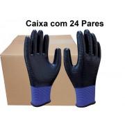 24 Pares de Luva Malha Nitrílico SS1002 Light - Super Safety - CA 32033