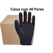 48 Pares de  Luva Pigmentada Preta Sspig - Super Safety-T Ca 33818