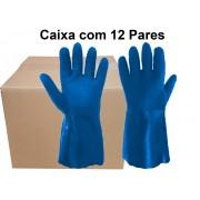 12 Pares de Luva Pvc Forrada Aspera 26 Cm - Super Safety- Ca 36581