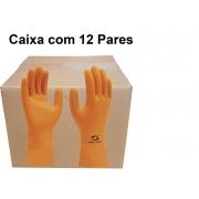 Luva De Látex Super Orange - Super Safety - Ca 33778  caixa com 12 pares