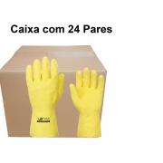 Luva Latex Natural Verniz Silver - Volk - Ca 16312 caixa com 24 pares