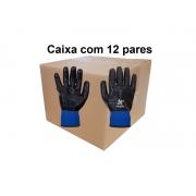 Luva Malha Nitrilica NBR Wave Pro - Kalipson - CA 44041 Tamanho 9 (G) Caixa com 12 pares
